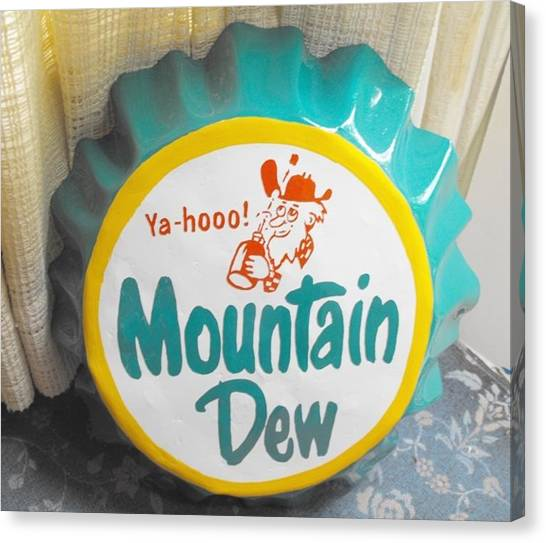 Mountain Dew Canvas Print - Pop Top Lid Art by Todd Spaur