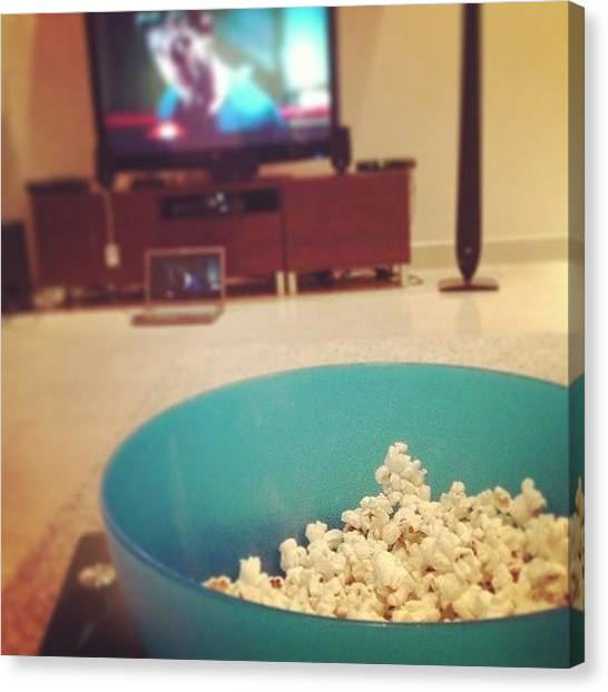 Popcorn Canvas Print - #popcorn 😍 #movie #instagood by Faiza Sami