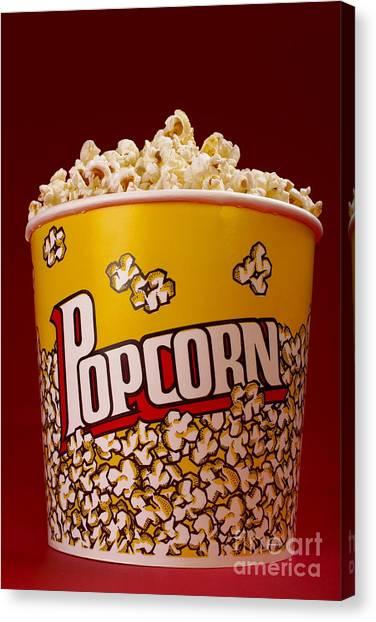 Popcorn Canvas Print - Popcorn Bucket by Diane Diederich