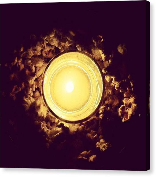 Popcorn Canvas Print - #popcorn #candle #free by Esther Montoro