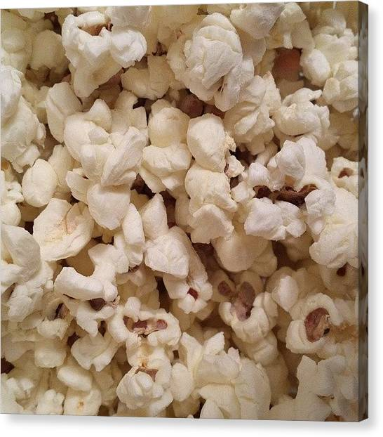 Popcorn Canvas Print - #popcorn #food #foodporn #yum by Jacopo Mantovani