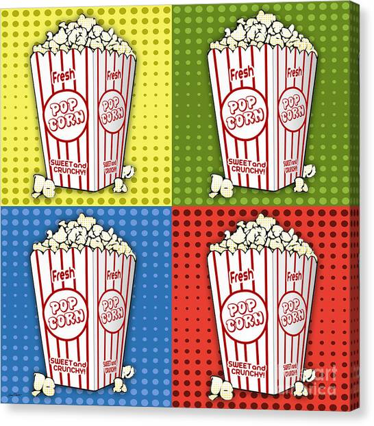 Popcorn Pop Art-jp2375 Canvas Print