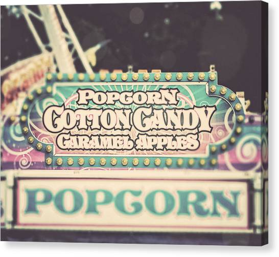 Popcorn Stand Carnival Photograph From The Summer Fair Canvas Print by Lisa Russo
