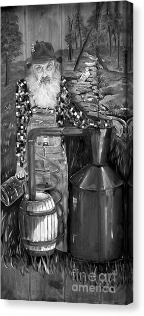Popcorn Sutton - Black And White - Legendary Canvas Print