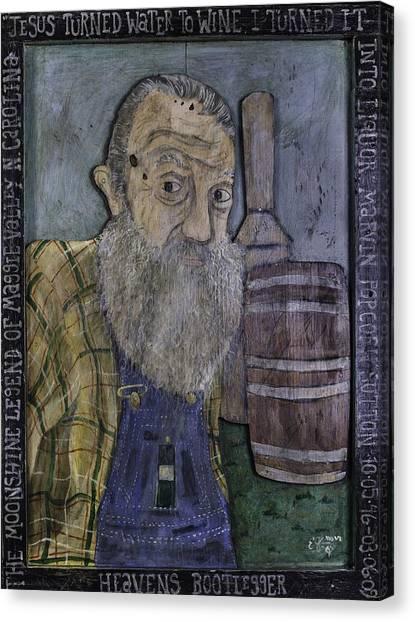 Popcorn Sutton - Heaven's Bootlegger Canvas Print