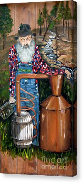 Popcorn Canvas Print - Popcorn Sutton - Moonshiner - Redneck by Jan Dappen