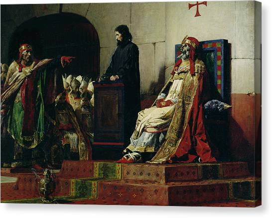 Accused Canvas Print - Pope Formosus And Pope Stephen Vi by Jean Paul Laurens