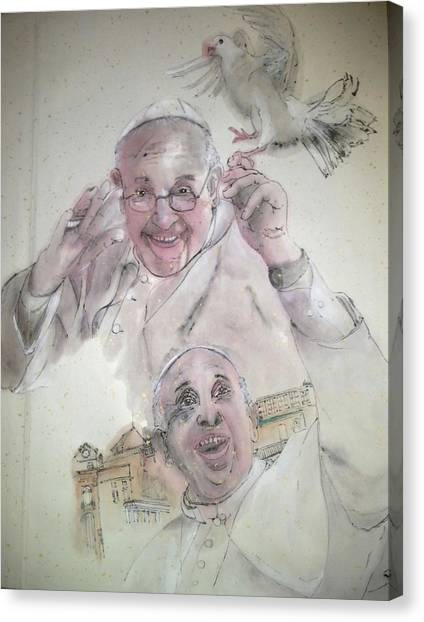 Pope Francis Album Canvas Print