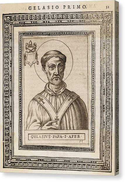 Influence Canvas Print - Pope Gelasius I  Saint, Whose Writings by Mary Evans Picture Library