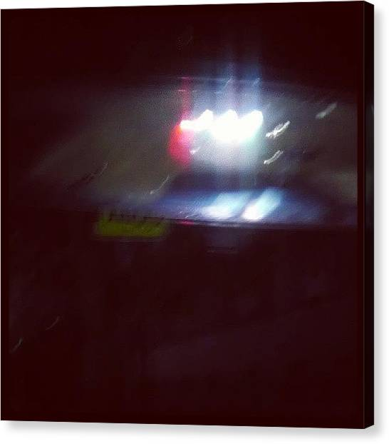 Law Enforcement Canvas Print - popo In My Rearview... Hope Every1 by Bobby Mori