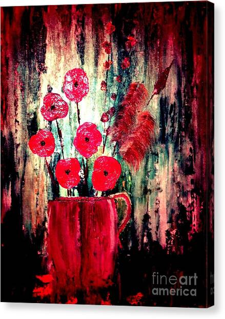 Poppie Mix Canvas Print