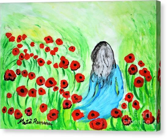 Poppies Field Illusion Canvas Print