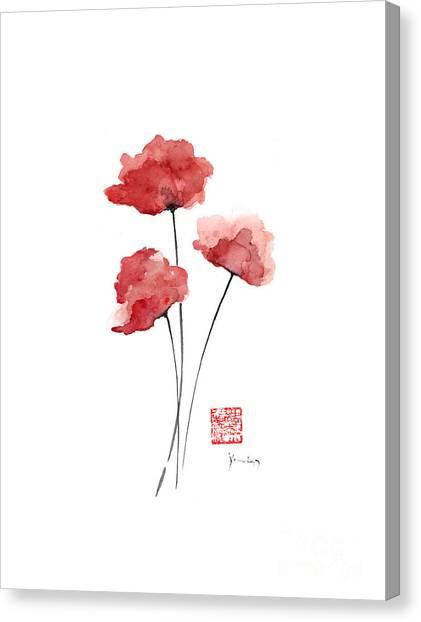 Poppies flowers orange red poppy flower watercolor painting ink poppies flowers orange red poppy flower watercolor painting ink canvas print by johana szmerdt mightylinksfo