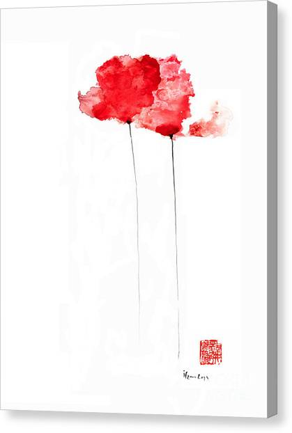Canvas Painting Of Poppies
