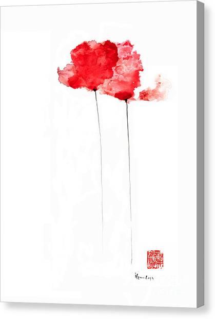 Poppies flowers orange red poppy flower watercolor painting painting poppies flowers orange red poppy flower watercolor painting canvas print by johana szmerdt mightylinksfo
