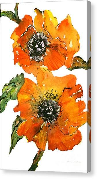 Poppies Canvas Print by Gwen Nichols