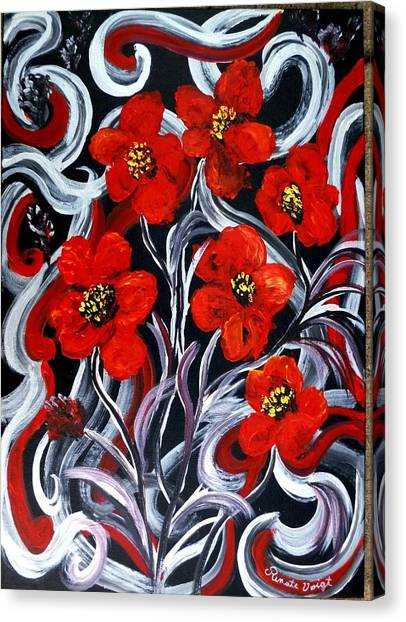 Poppies???? Canvas Print