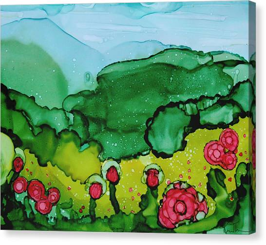 Poppin Poppies Canvas Print by Kim Thompson