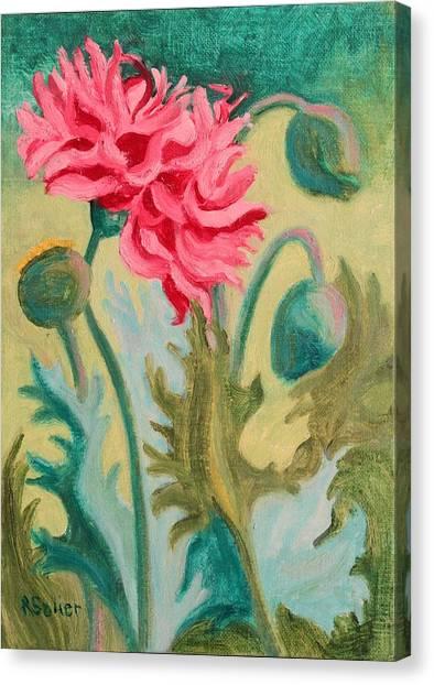 Poppy Abstract Canvas Print