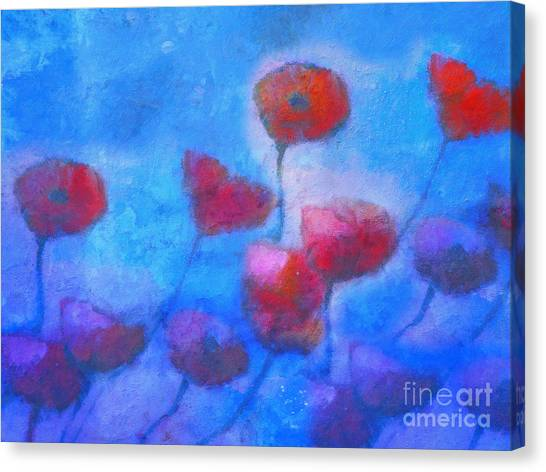 Poppy Blues Canvas Print by Lutz Baar