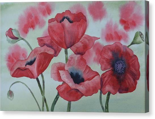 Poppy Dance Canvas Print