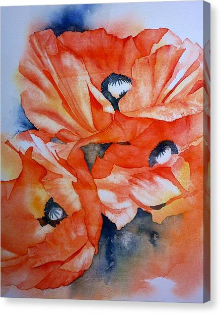 Poppy-faces Canvas Print by Thomas Habermann
