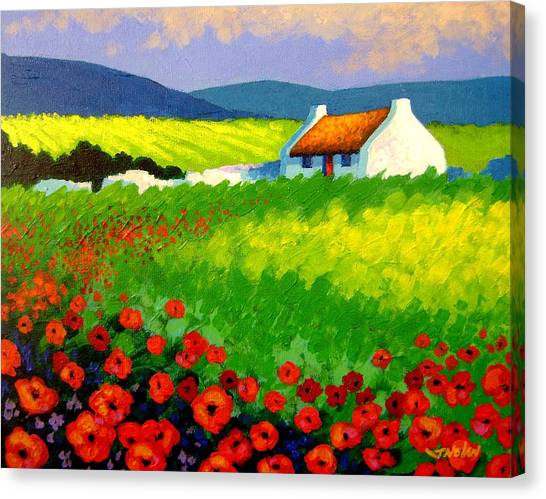Iphone Case Canvas Print - Poppy Field - Ireland by John  Nolan