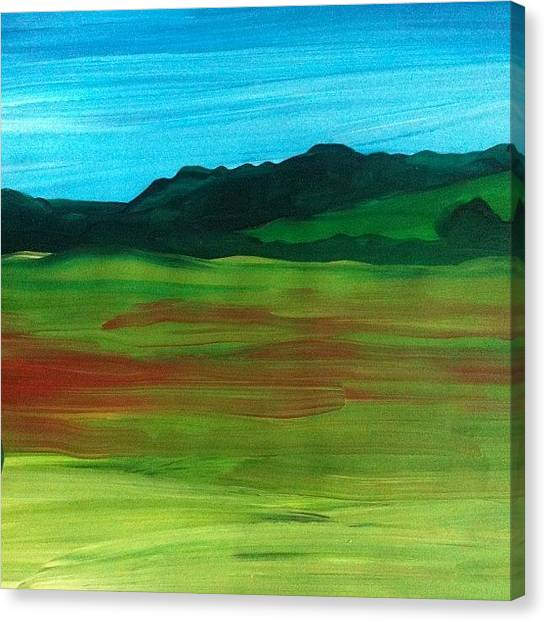 Expressionism Canvas Print - Poppy Field by Stephen Lock