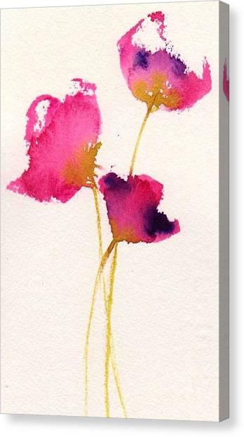 Poppy Pirouette Canvas Print