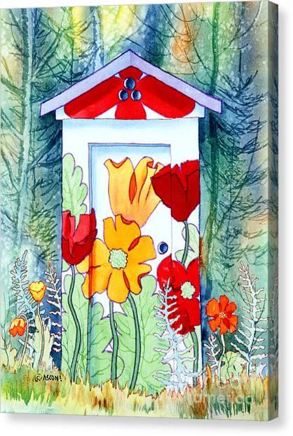 Poppy Potty Canvas Print