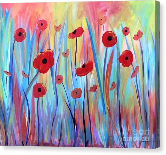 Poppy Symphony Canvas Print
