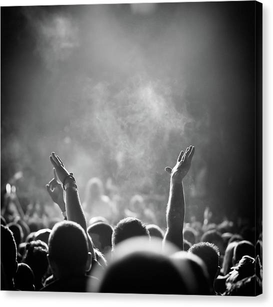 Popular Music Concert Canvas Print by Alenpopov