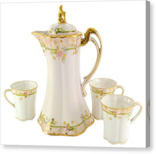 Porcelain Pitcher And Cups Canvas Print