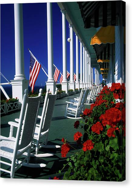 Canvas Print - Porch Of The Grand Hotel, Mackinac by Panoramic Images