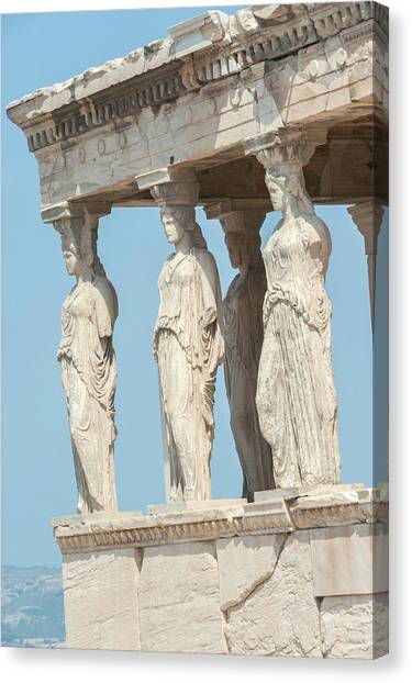 The Acropolis Canvas Print - Porch Of The Maidens, Erechtheion by Jim Engelbrecht