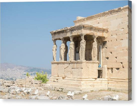 The Acropolis Canvas Print - Porch Of The Maidens, Erechtheion by Lisa S. Engelbrecht