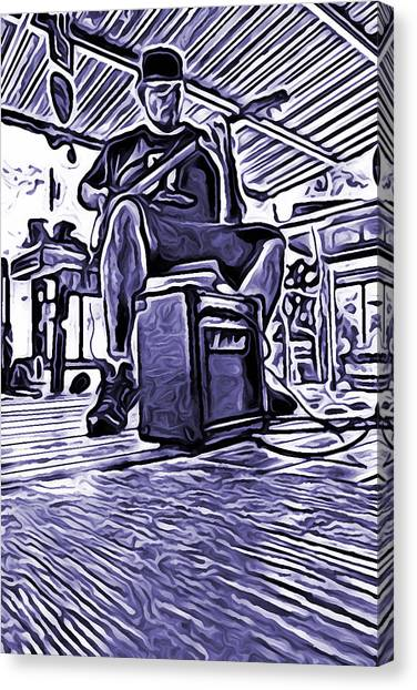 Porch Pickin Canvas Print