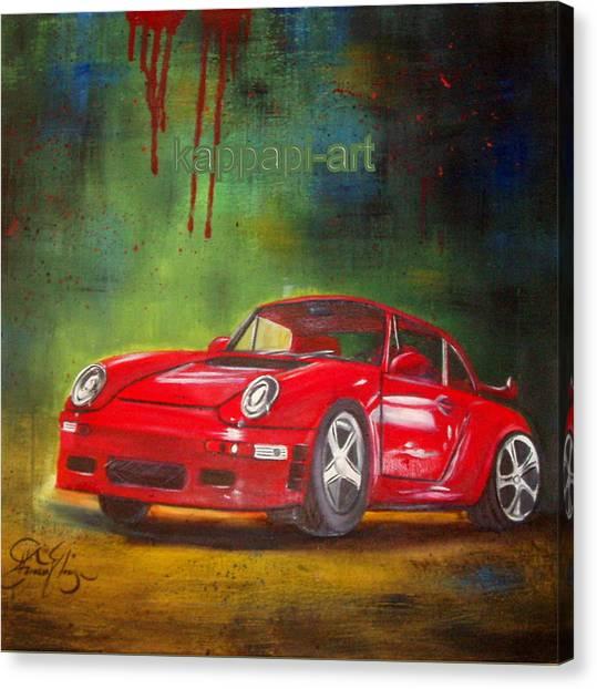 Porche Canvas Print by Pit Kioseoglou