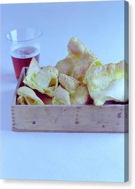 Pint Glass Canvas Print - Pork Rinds With A Pint by Romulo Yanes