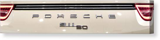Porsche 50th Anniversary Rear Badge Canvas Print