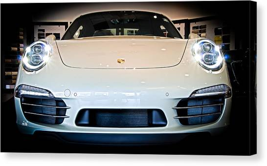 Porsche 911 50th Front With Led's Canvas Print