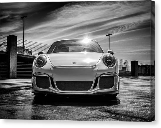 Sports Cars Canvas Print - Porsche 911 Gt3 by Douglas Pittman