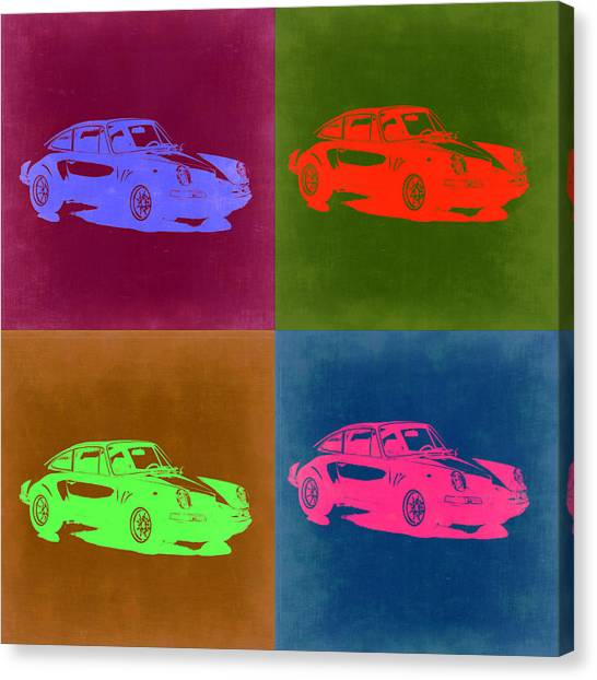 Porsche Canvas Print - Porsche 911 Pop Art 3 by Naxart Studio