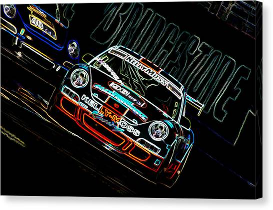 Lines Canvas Print - Porsche 911 Racing by Sebastian Musial