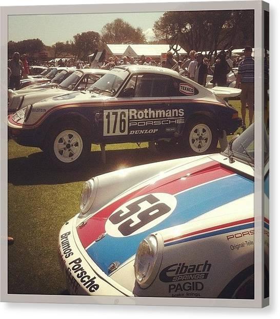 Offroading Canvas Print - #porsche #911 #rothmans #racing by Noelle Dumas