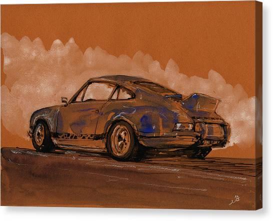 Porsche Canvas Print - Porsche 911 Rs Classic by Juan  Bosco