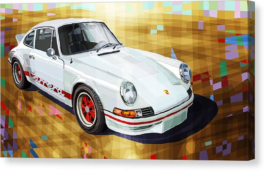 Sports Cars Canvas Print - Porsche 911 Rs by Yuriy Shevchuk