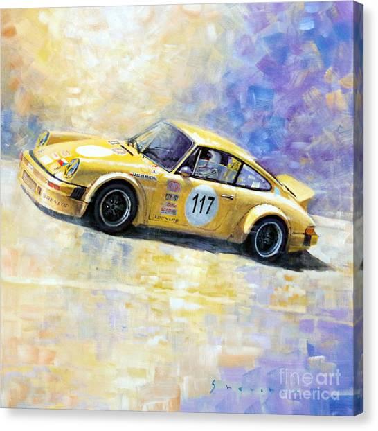 Automotive Art Canvas Print - Porsche 911 S Typ G Josef Michl by Yuriy Shevchuk