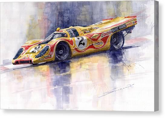 Racing Canvas Print - Porsche 917 K Martini Kyalami 1970 by Yuriy Shevchuk