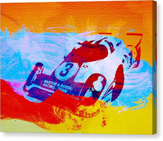 Martini Canvas Print - Porsche 917 Martini And Rossi by Naxart Studio